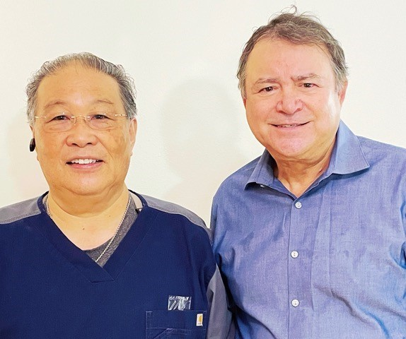 Henry LaFuente & Frank Tanaka our two Ocularists who work at Specialty Facial Prosthetics